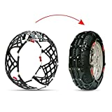 RUPSE Easy to Install Snow Tire Chains/Anti-Slip Chain Fit for Most Car/SUV/Truck with Snow Shovel (905-A-A10)