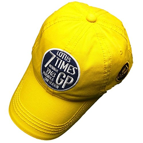 Team Lotus F1 Formula One 1 Vintage 7 Times Winners 1963 Yellow LMAS19 Cap (Lotus F1 Hat)