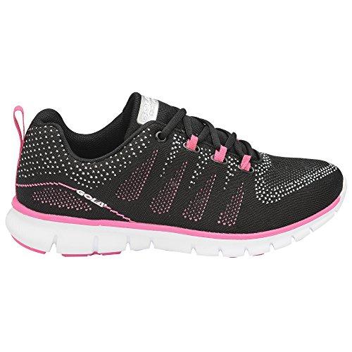Gola Sport Dames / Dames Active Tempe Ademende Hardloopschoenen Black / Charcoal