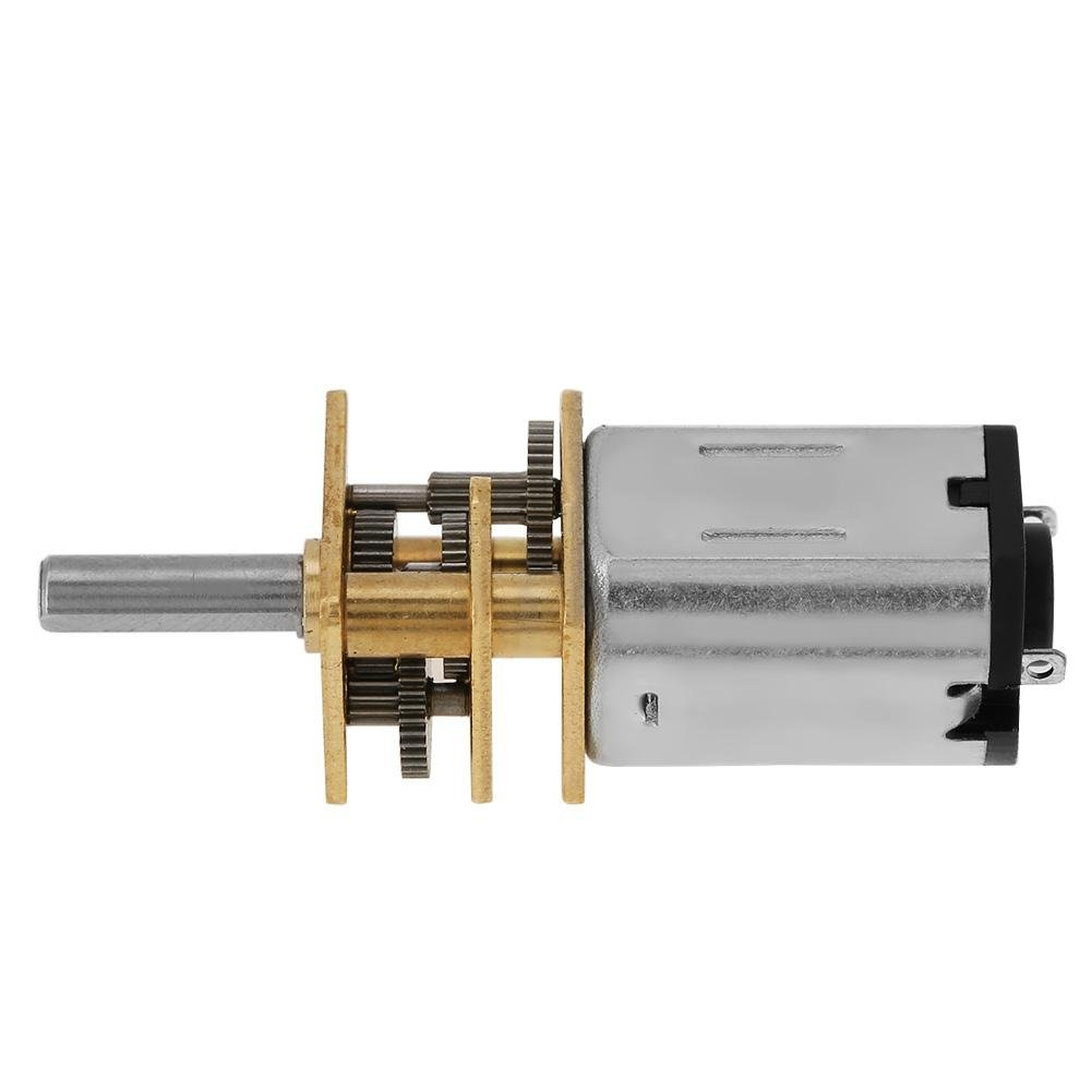 New N20 DC3V 6V 12V Speed Reduction Gear DC Motor with Metal Gearbox 50-2000RPM