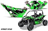 AMRRACING Arctic Cat Wildcat Sport Limited Full Custom UTV Graphics Decal Kit Street Star Green