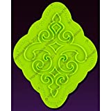 Filigree Damask Medallion Onlay Mold by Marvelous Molds
