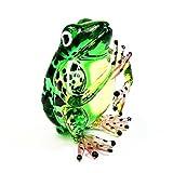 Lampwork COLLECTIBLE MINIATURE HAND BLOWN Art GLASS Frog, Green FIGURINE