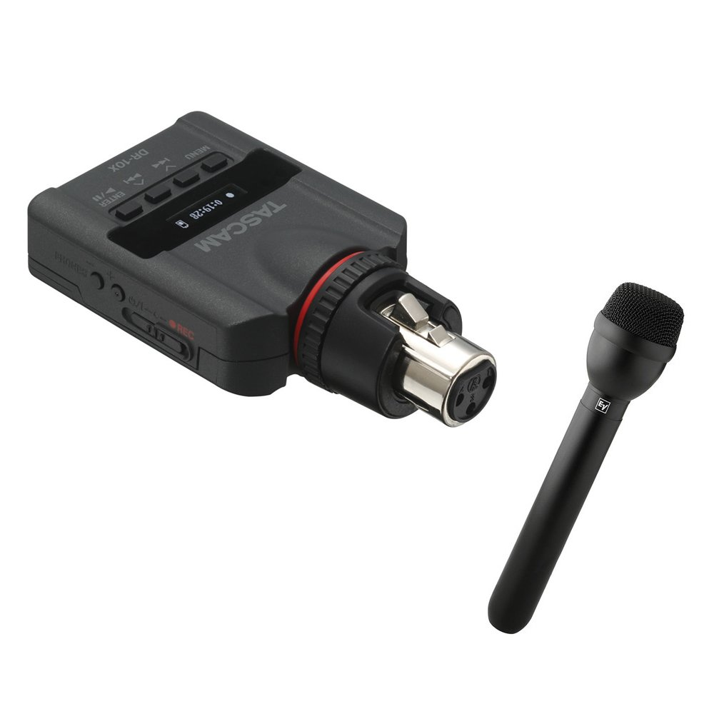 Tascam DR-10X and RE-50/B Interview Recording Kit
