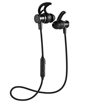 Gzmy Sports Auricular Bluetooth Wireless Sports Auricular Bluetooth In-Ear Stereo Subwoofer Magnético (Negro): Amazon.es: Electrónica