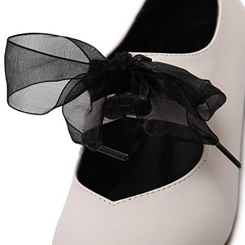 AalarDom Mujer Puntera Cuadrada Material Suave Sin cordones Sólido Plano Beige