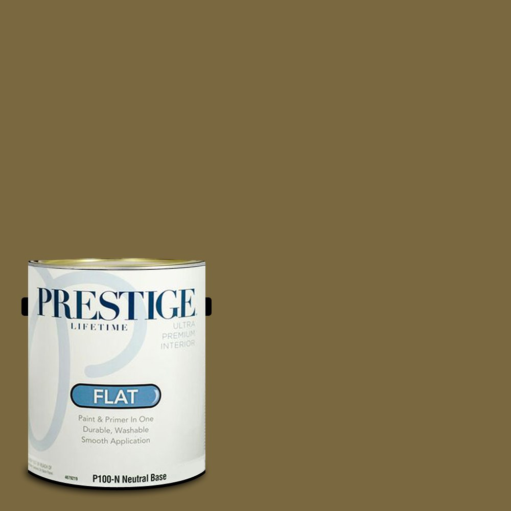 Prestige Paints Interior Paint and Primer In One, 1-Gallon, Flat,  Comparable Match of Sherwin Williams Eminent Bronze by Prestige Paints