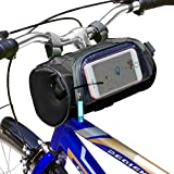 Just Mode(TM)Bicycle Cycling Tube Frame Pannier Waterproof Bike Bag Mobile Phone Screen Touch Holder with Straps