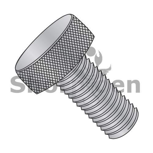 SHORPIOEN Knurled Thumb Screw Full Thread Aluminum 10-32 x 5/8 BC-1110TKAL (Box of 100)