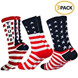 Cell XS(TM) American Flag Casual Cotton Dress Socks Stars & Stripes Sock Men's American Flag Theme Socks Novelty Fashion American Flag Unisex Socks Athletic Crew Socks
