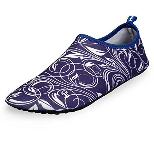 ts Shoes Quick Dry Barefoot Aqua Socks Swim Shoes(Purple,35/4 B(M) US Women/3 D(M) US Men) ()