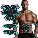[2017 New Version] Abdominal trainer Body Toner Arms Toning Automatic Muscle Fitness Training, Unisex Ab Toner Weight Loss Belt Exercise, Light Wearable Individuation Gym Workout Home Fitness Machine, Build Muscles of Abdomen Arms for Man and Woman