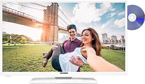 Telefunken XH32A201D-W 81 cm (32 Zoll) Fernseher (HD Ready, Triple-Tuner,DVB-T2 H.265/HEVC, Smart TV, DVD-Player)