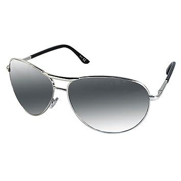 Chic-Net Lunettes de soleil aviateur unisexe Pornobrille nacré argent en miroir lunettes d'aviateur 400UV FEjsq