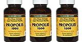 """YS Organics Eco Bee Farms """"Super Premium Propolis 1000 mg"""" -90 Caps 3 Pack"""