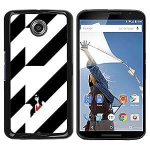 rígido protector delgado Shell Prima Delgada Casa Carcasa Funda Case Bandera Cover Armor para Motorola NEXUS 6 / X / Moto X Pro -Black Woman Building Stylish -