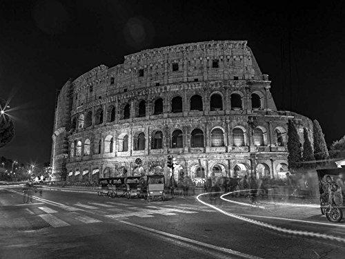 Feeling at home Imagen sobre Lienzo con Caja Americana Famoso Coliseo en Roma, Ital Frank Impresion enmarcada con Marco Clasico Horizontal 60_X_82cm