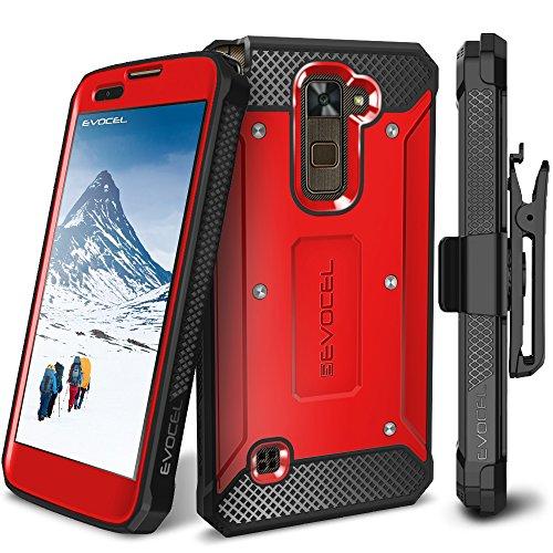 LG Stylo 2 / LG Stylo 2 Plus/LG Stylo 2 V Case, Evocel [Explorer Series] Premium Full Body Case with Rugged Belt Clip Holster for LG G Stylo 2 / LG Stylo 2 V/LG G Stylo 2 Plus, Red