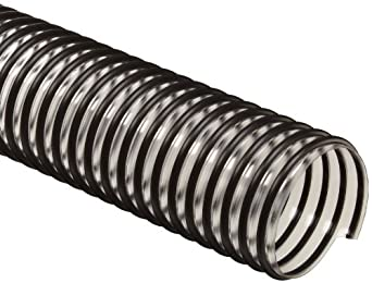Flex-Tube PV PVC Duct Hose, Clear, For Use With Fume, Dust