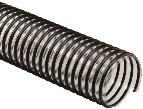 Flex-Tube PV PVC Duct Hose, Clear, 5