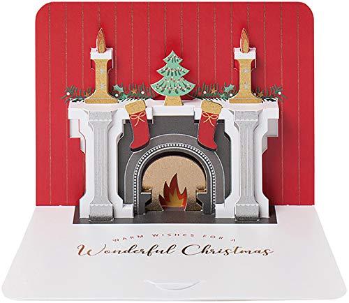 3D Luxury Christmas/ /Set di Natale camino/ /5/laminate pop up biglietti di Natale.