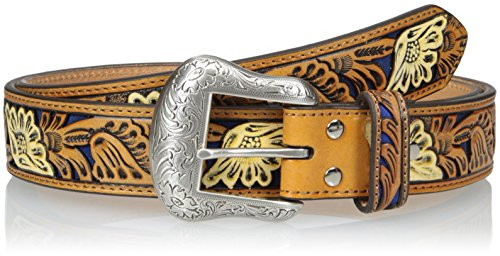 Nocona Belt Co. Men's Blue Vintage Floral Inlay, 46