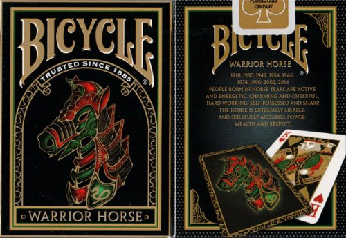 2 Decks Warrior Horse Bicycle Playing Cards (Chinese Playing Cards Deck)