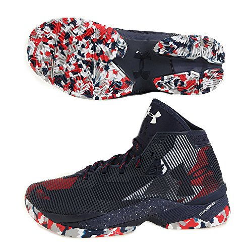 new arrival 01b6c 26fa8 Men's Under Armour Curry 2.5 Basketball Shoes Midnight Navy/Red/White Size  7.5 M US