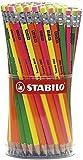 Stabilo IT4907/96 Matita Swano Fluo Barattolo, 96 Pezzi, Multicolore