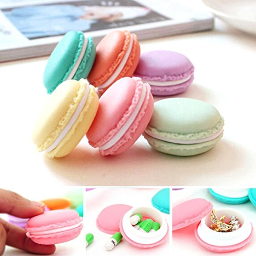 (YJYdada 6 PCS Mini Earphone SD Card Macarons Bag Storage Box Case Carrying Pouch)