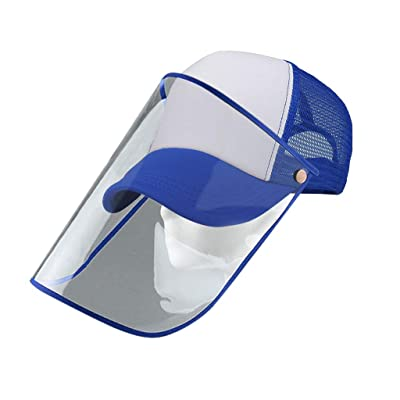 Full Face Visor Hat,Unisex Detachable Baseball Cap Eye Protective Adjustable Hat Anti-Saliva Anti-Spitting Outdoor Sun: Kitchen & Dining