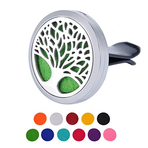 Price comparison product image Aromatherapy Car Air Freshener , Tree Of Life Design Stainless Steel Locket , Best Essential Oil Diffuser For Driver Car Home Decoration