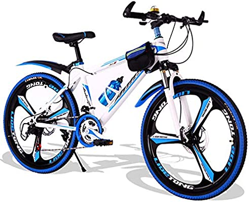 Bicicletta per Bicicleta de 21 velocidades de 22 pulgadas Bicicleta de montaña Cambio de velocidad Hombre y mujer estudiante adulto Niño de 8 a 15 años Adolescente Carreras de vehículos todoterreno: Amazon.es: Hogar