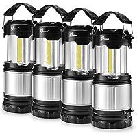 Odoland COB 4 Packs/2 Packs LED Lanterns, 300 Lumen LED...