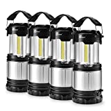 LED Camping Lantern - Odoland COB 4 Packs LED Lanterns, 300 Lumen LED Camping Lantern Handheld Flashlights, Camping Gear Equipment for Outdoor Hiking, Camping Supplies, Emergencies, Hurricanes, Outages