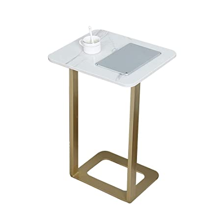 Folding table Nan Mesa Auxiliar de sofá de mármol Simple, Soporte ...