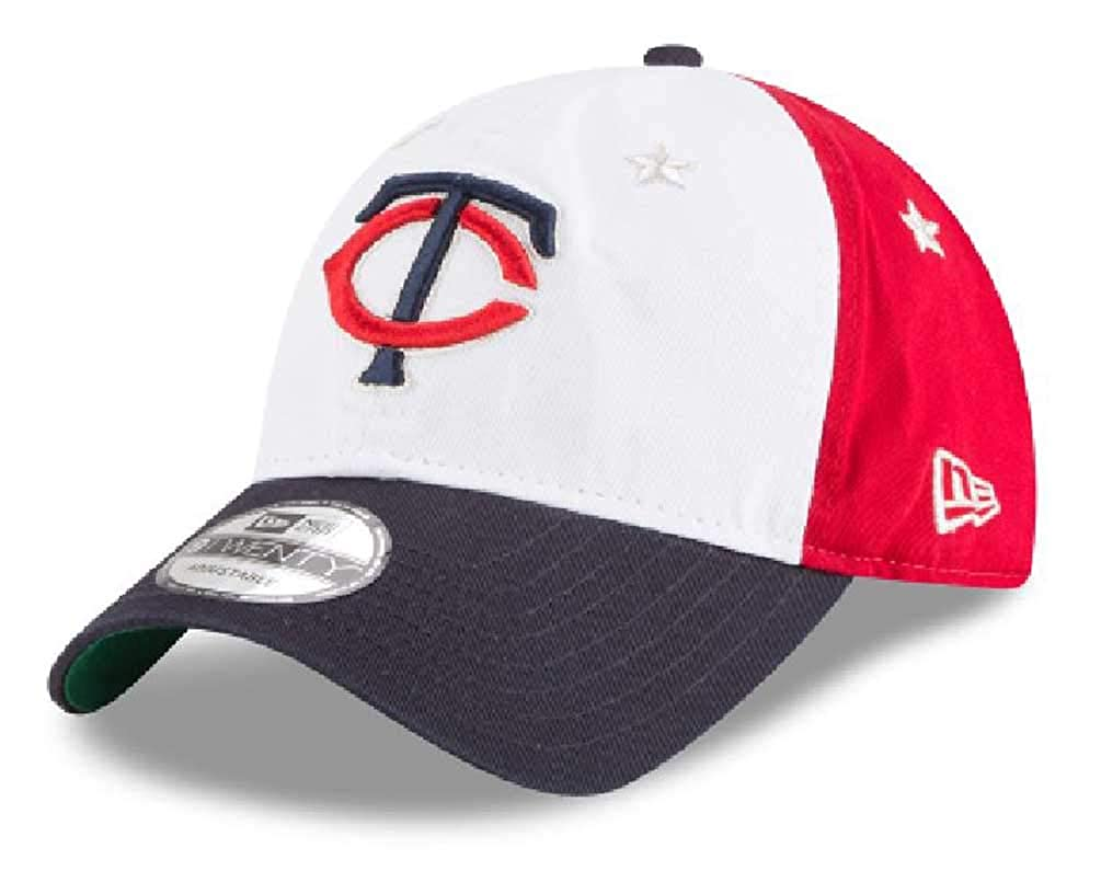 New Era Men's Minnesota Twins Cap Hat Patriotic Flag Adjustable 920 MLB 11757976 Red