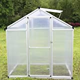 Walcut Magic Garden Series Walk in Greenhouse Silver (6' x 4' x 6.4')
