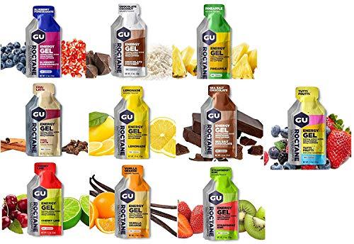 - GU Energy Roctane Variety 10 Flavors Ultra Endurance Energy Gel HIGH Intensity Aminos Caffeine Electrolytes