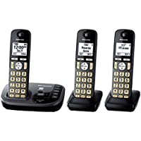 Panasonic KX-TGD223M Cordless Phone with Answering Machine- 3 Handsets (Certified Refurbished) (KX-TGD223N METALLIC GREY)