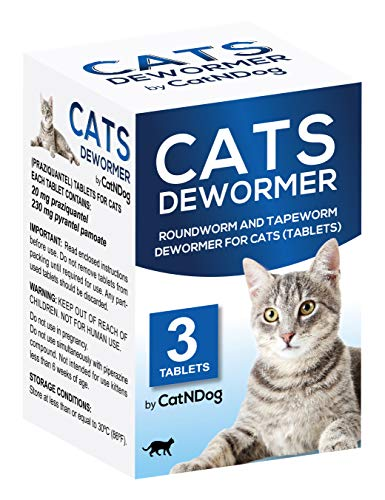 - CATNDOG All Worms Cats Dewormer Roundworm and Tapewormer Tablets for Kittens and Cats