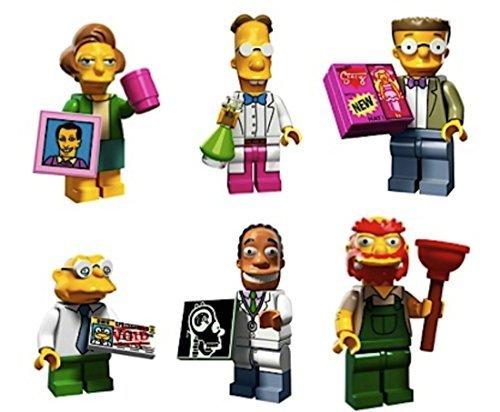 Edna Krabappel, Professor Frink, Smithers, Hans Moleman, Dr Hibbert, Groundskeeper Willie: Lego Simpsons Collectible Minifigures Series 2 Custom Bundle 71009]()