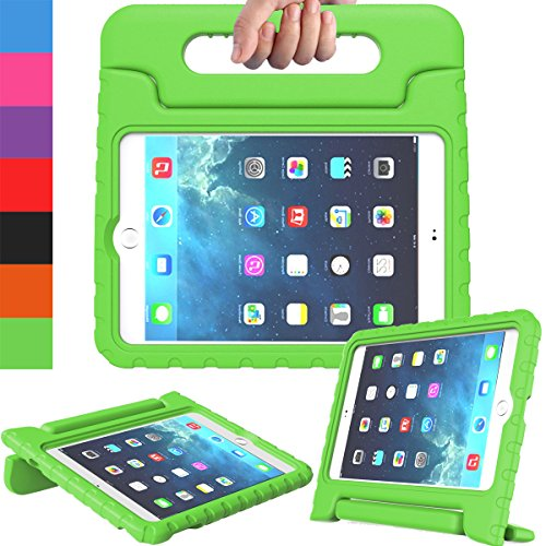 AVAWO Apple iPad Mini 1 2 3 Kids Case - Light Weight Shock Proof Handle Stand Kids for iPad Mini, iPad Mini 3rd Generation, iPad Mini 2 with Retina Display - Green