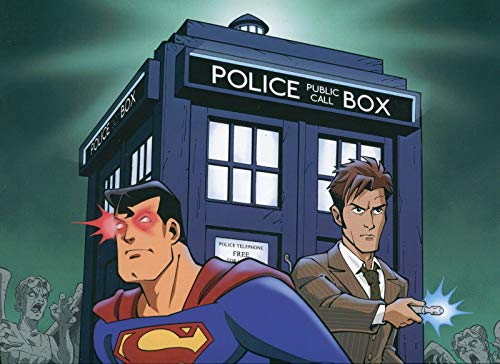 Very Nice Signed - Superman VS Dr. Who Very Nice Signed Large 12x18