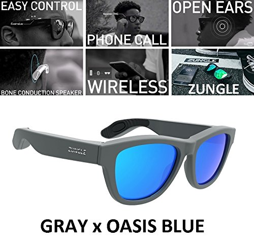 d85ce85793 Zungle Panther Smart Sunglasses Built in Bone Conduction Speakers - Brand  New Matte Gray Frame x