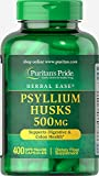 Puritan's Pride Psyllium Husks 500 mg-400 Capsules For Sale