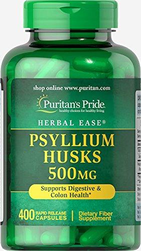 Psyllium 500 Mg 100 Capsules - Puritan's Pride Psyllium Husks 500 mg-400 Capsules
