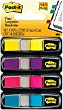 Post-it Flags, Ideal For Marking and Flagging Paper Documents, 0.5 Inch, Assorted Bright colors, 35/Dispenser, 4-Dispensers/Pack, 2-PACK