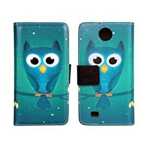 Einzige Slim Fit Leather Case Cover for HTC Desire 300 with Free Universal Screen-stylus (Night Owl)