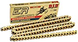 D.I.D 520ERV3-150 Gold 150-Link High Performance X-Ring Chain with Connecting Link
